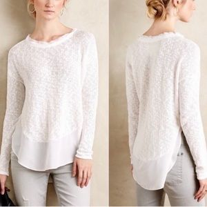 Deletta Anthropologie white sweater M